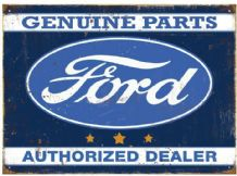 Ford Dealer - Metal Wall Sign